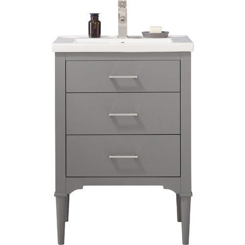 Design Element 24 Inch Mason Single Sink Bathroom Vanity Gray S01 24 Gy Single Sink Bathroom Vanity Single Sink Vanity Single Sink