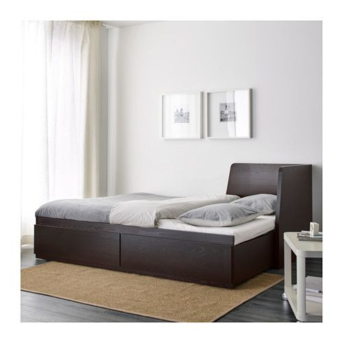 Flekke Daybed With 2 Drawers 2 Mattresses Black Brown Minnesund