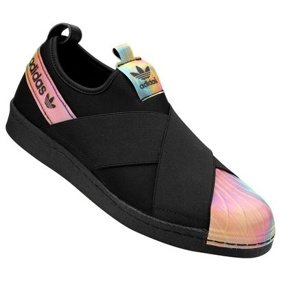 c2389dbd469 Tênis Adidas Superstar Slipon W - Preto