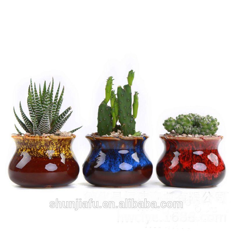 Bulk Small Succulent Indoor Ceramic Pot Ceramic Flower Pots Flower Pots Ceramic Succulent Pots
