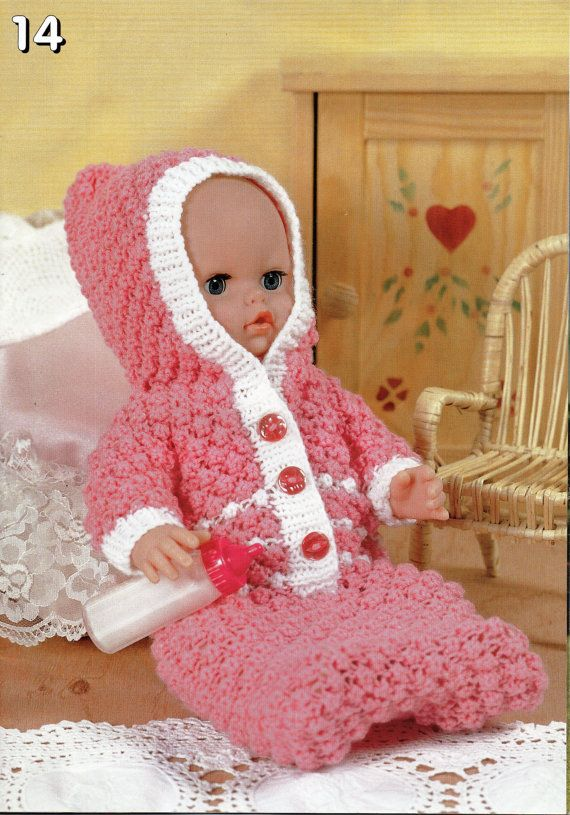 baby dolls clothes knitting pattern dolls sleeping bag with hood ...
