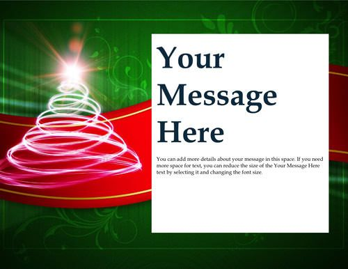 Christmas tree invitation - Free Invitation Template by Hloom - Christmas Certificates Templates For Word