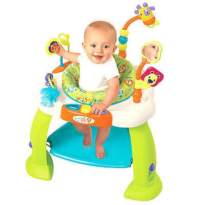 c3007d154 Baby Jumper Activity Station Bounce Toy Exerciser Rotating Seat ...