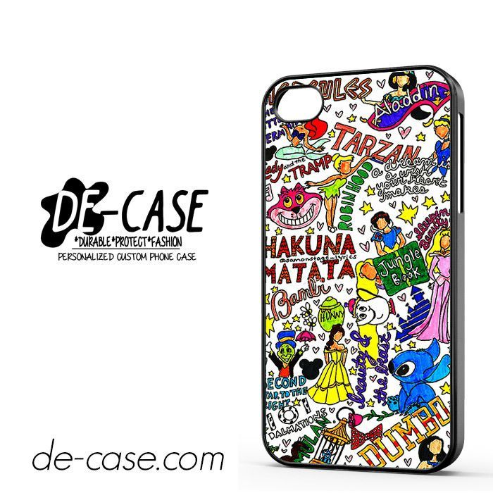 Disney Princess Collage Hakuna Matata DEAL-3392 Apple Phonecase Cover For Iphone 4 / Iphone 4S