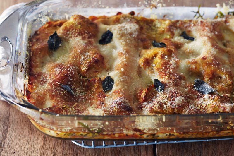 How To Make Vegetarian Thanksgiving Lasagna