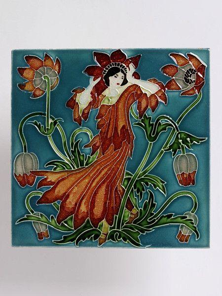 Flora S Train Crane Walter R W S V A Search The Collections Art Nouveau Decor Art Nouveau Tiles Tile Art