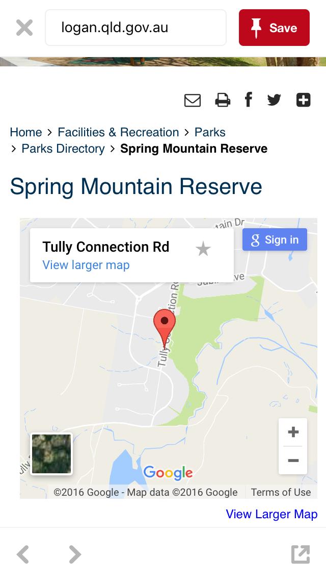 Spring Mountain Reserve Greenbank Large maps, Greenbank, Map
