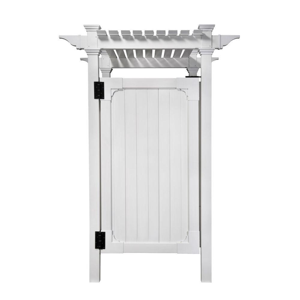 Zippity Outdoor Products 7 395 Ft X 3 Ft Vinyl Hampton Premium Outdoor Shower Enclosure Kit Unassembled 3 Box Unit White Vinyl Pvc In 2020 Outdoor Shower Kits Shower Enclosure Kit Outdoor Shower Enclosure