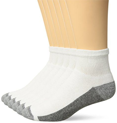 6-Pack Hanes Mens ComfortBlend Ankle Socks