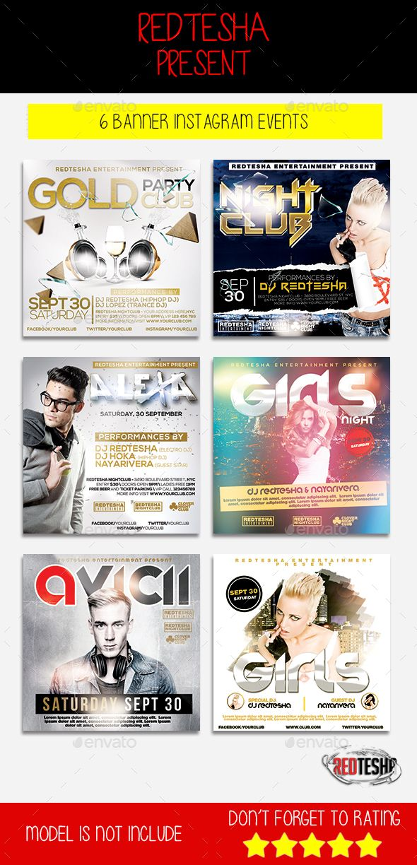 Instagram Banner Events   Event template, Banners and Template