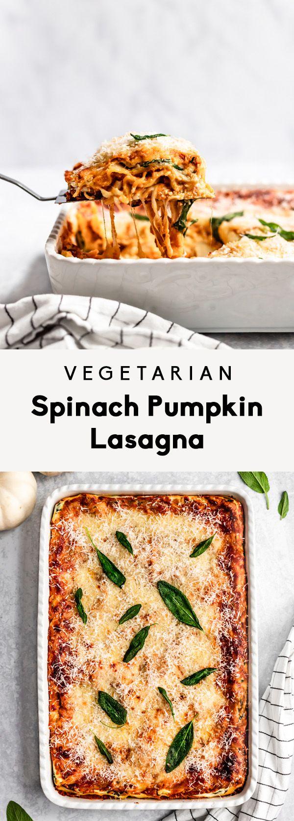 Vegetarian Spinach Pumpkin Lasagna   Ambitious Kitchen