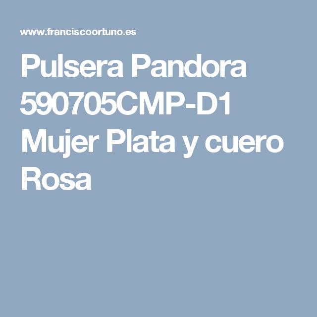 572216738c18 Pulsera Pandora 590705CMP-D1 Mujer Plata y cuero Rosa | Tejidos ...