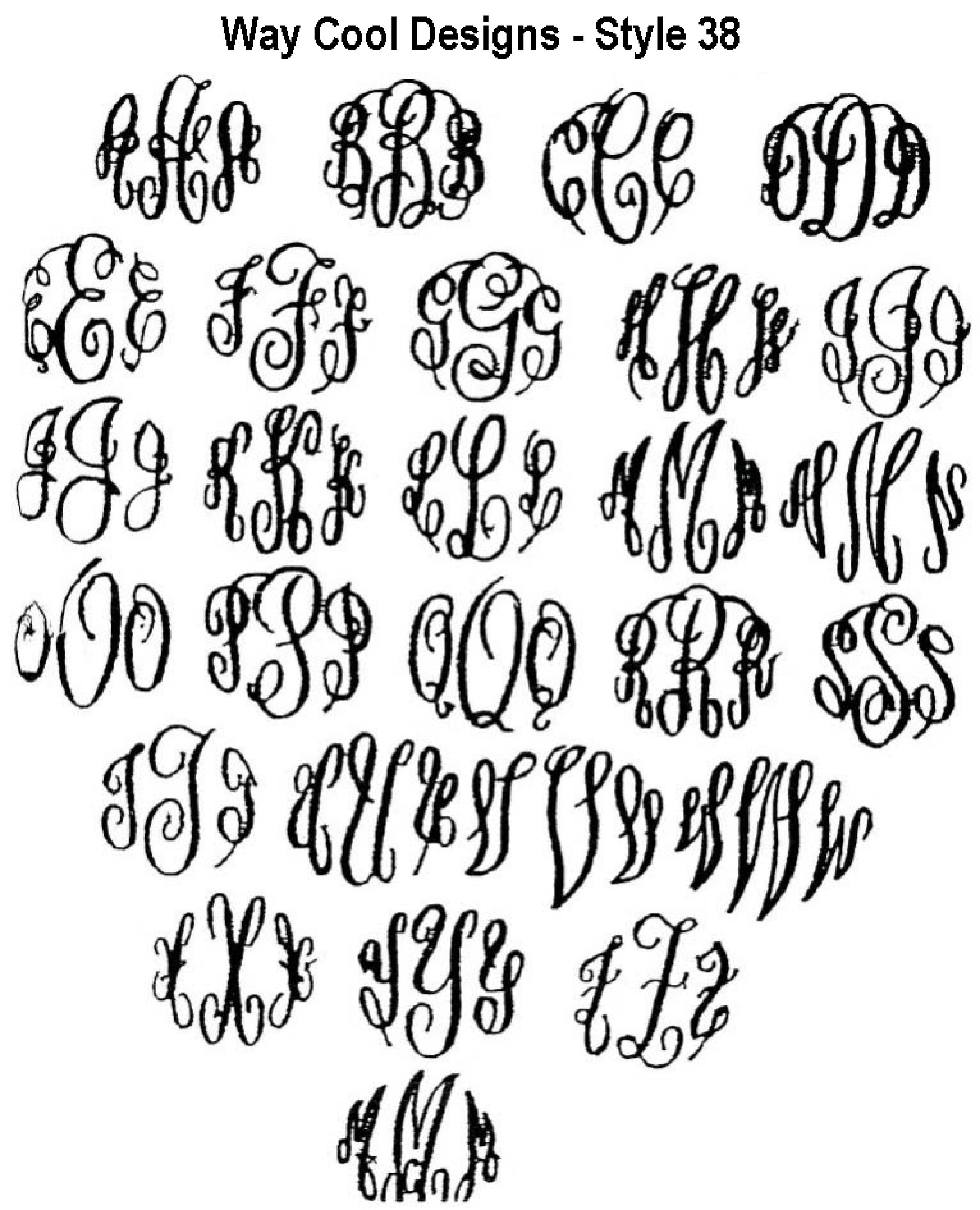 Monogram fonts classic monograms styles lettering
