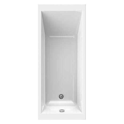 Baignoire rectangulaire L170x l70 cm blanc, SENSEA Premium design - prix baignoire a porte