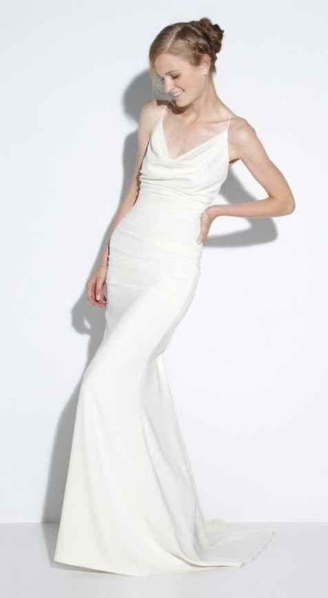 Nicole Miller Tara Gown 1 200 Nicole Miller Wedding Dresses Chic Wedding Dresses Wedding Dresses Simple