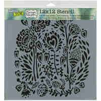 Crafters Workshop Template 12in X12in Wild Bouquet TCW577