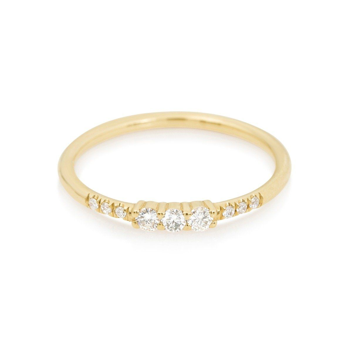 Equilibrum 14-karat Gold Diamond Cuff - one size Jennie Kwon Designs kneZz309K