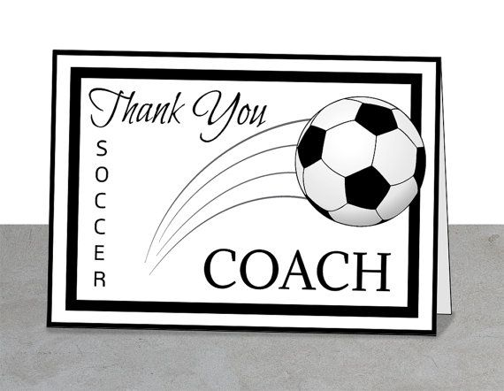 PRINTABLE Team Thank You Card For Soccer Coach Instant Download