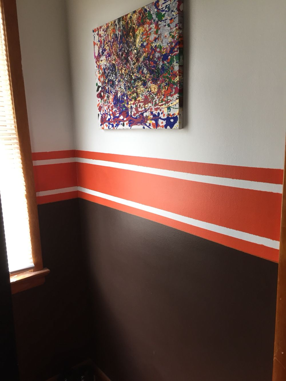 Paint job in my son 39 s sports cleveland browns bedroom jack 39 s football bedroom ideas for Ohio state bedroom paint ideas