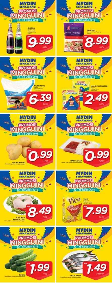 12-18 Aug 2016: Mydin Special Promotion