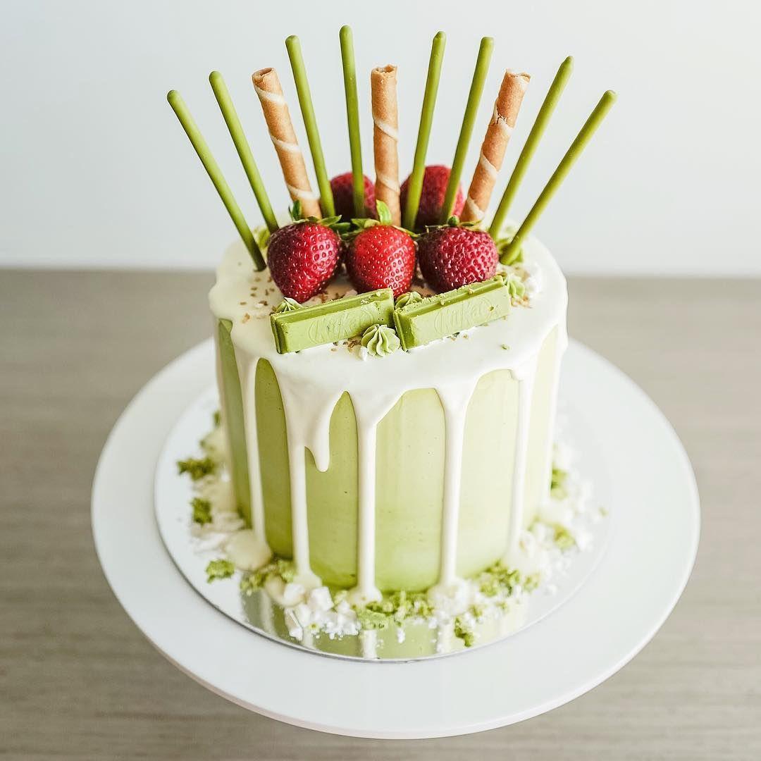 Majestic matcha cake // Elegant, modern and quirky cake decorating ...
