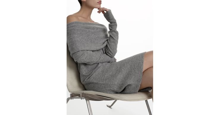 Cashmere Funnelneck Dress by White + Warren | Spring - Free Shipping. On Everything.