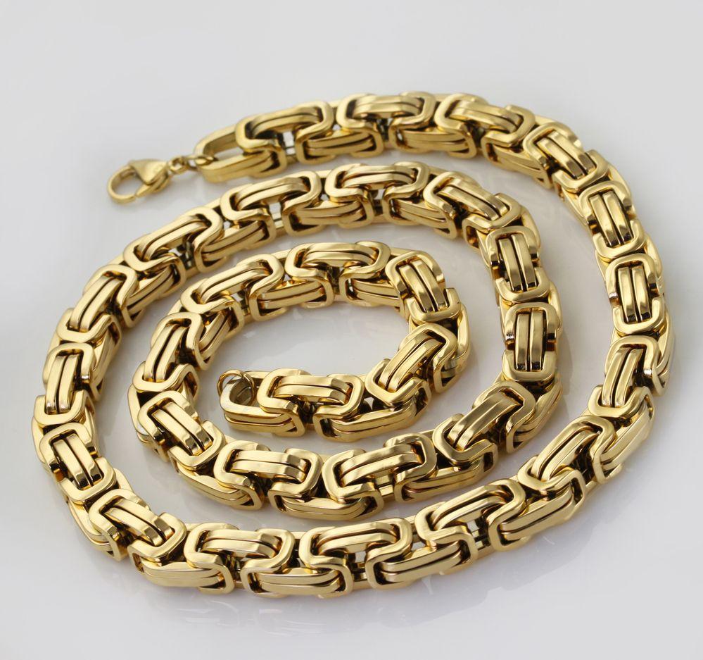 Wholesaleretail60cm96mm1635gstainless Mens Jewellerywomen's  Jewelrymen's Accessoriesgold Chains18k