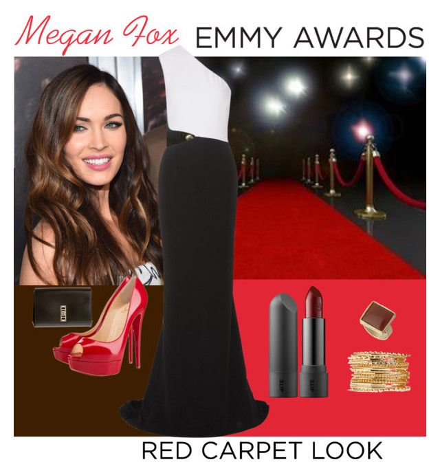 """""""Megan Fox"""" by fieryice ❤ liked on Polyvore featuring STELLA McCARTNEY, Christian Louboutin, Proenza Schouler, Dorothy Perkins and emmyredcarpet"""