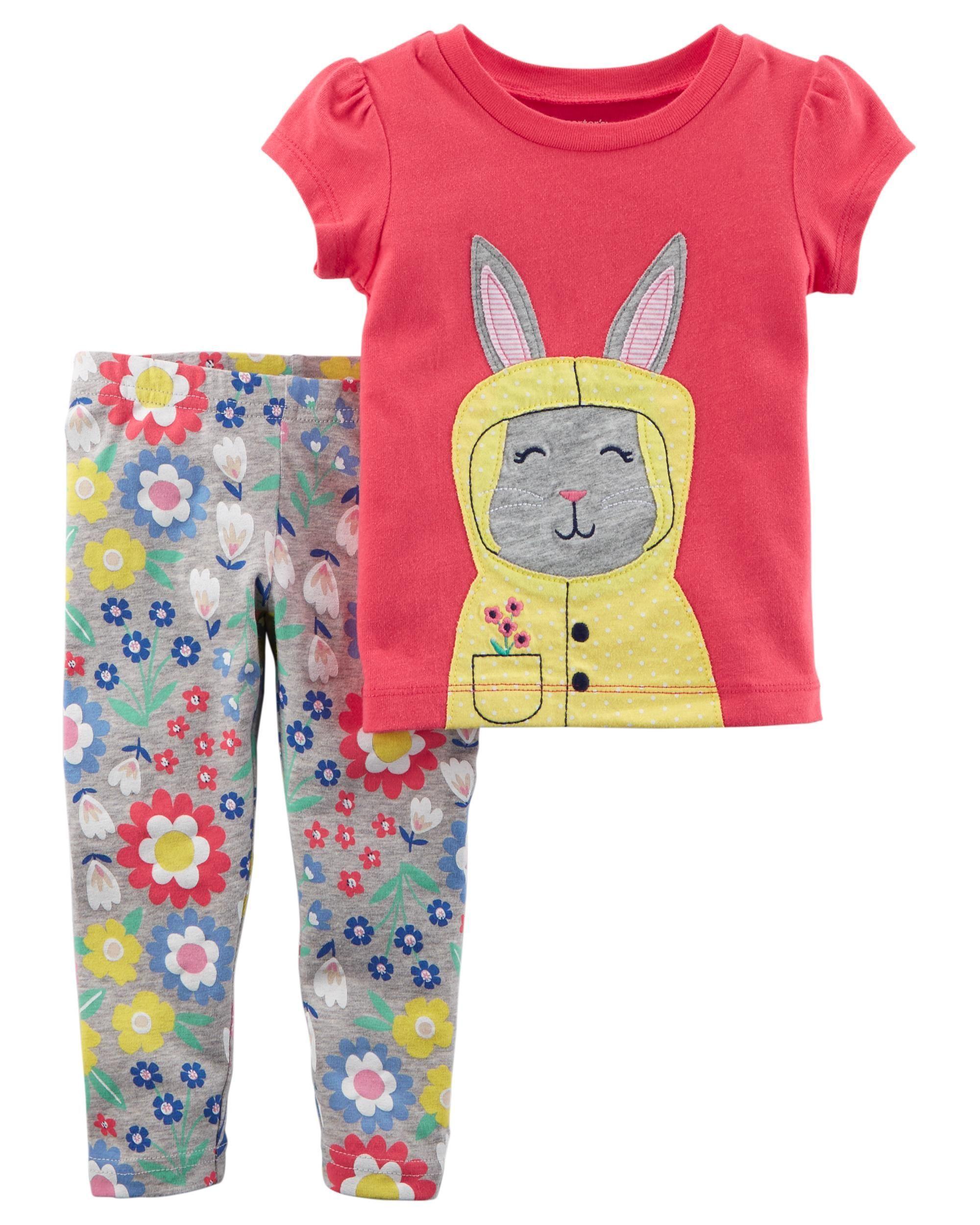 83860a230eeb5 2-Piece Jersey Top & Floral Legging Set | Girls Spring-Summer ...
