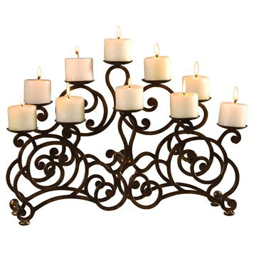 Picture of Ambella Home - Marie Medium Fireplace Candelabra ...