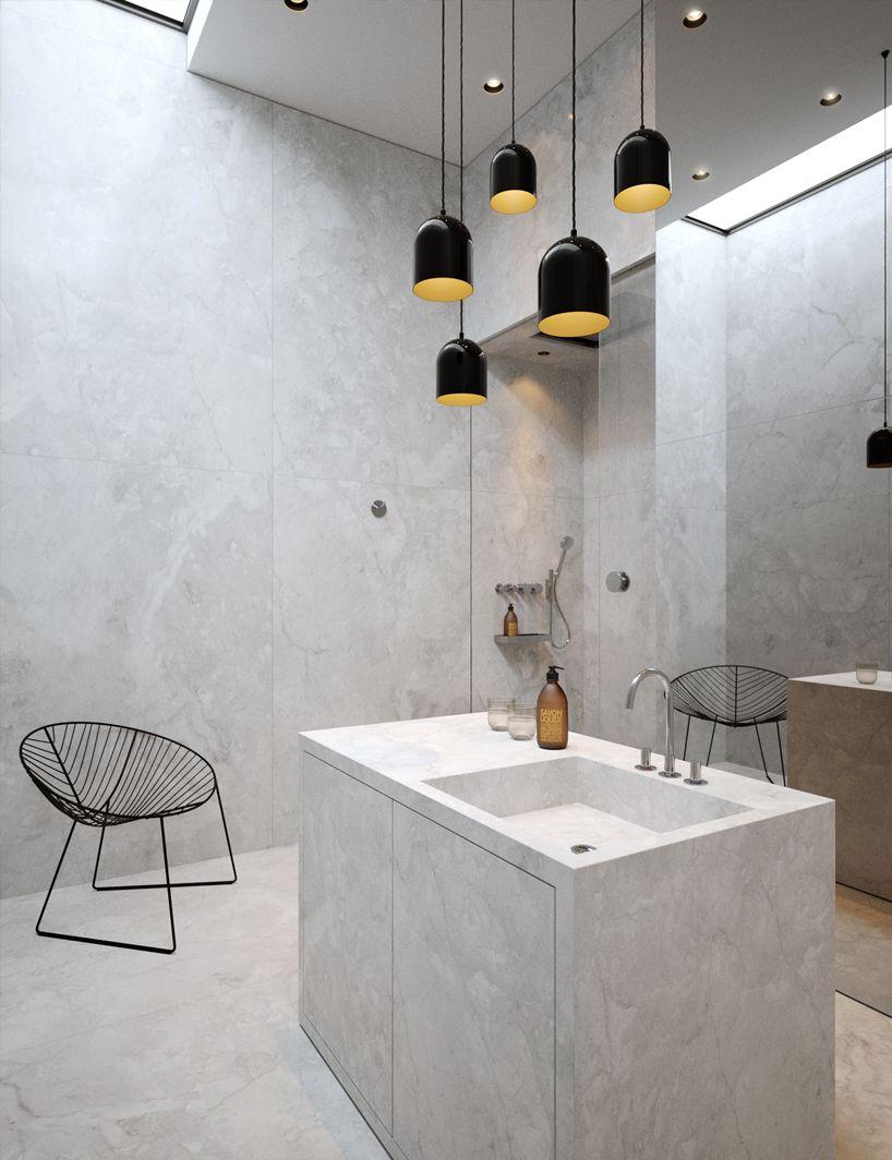 vasiliy butenko: attic concept office | Bathroom, Attic and Concrete