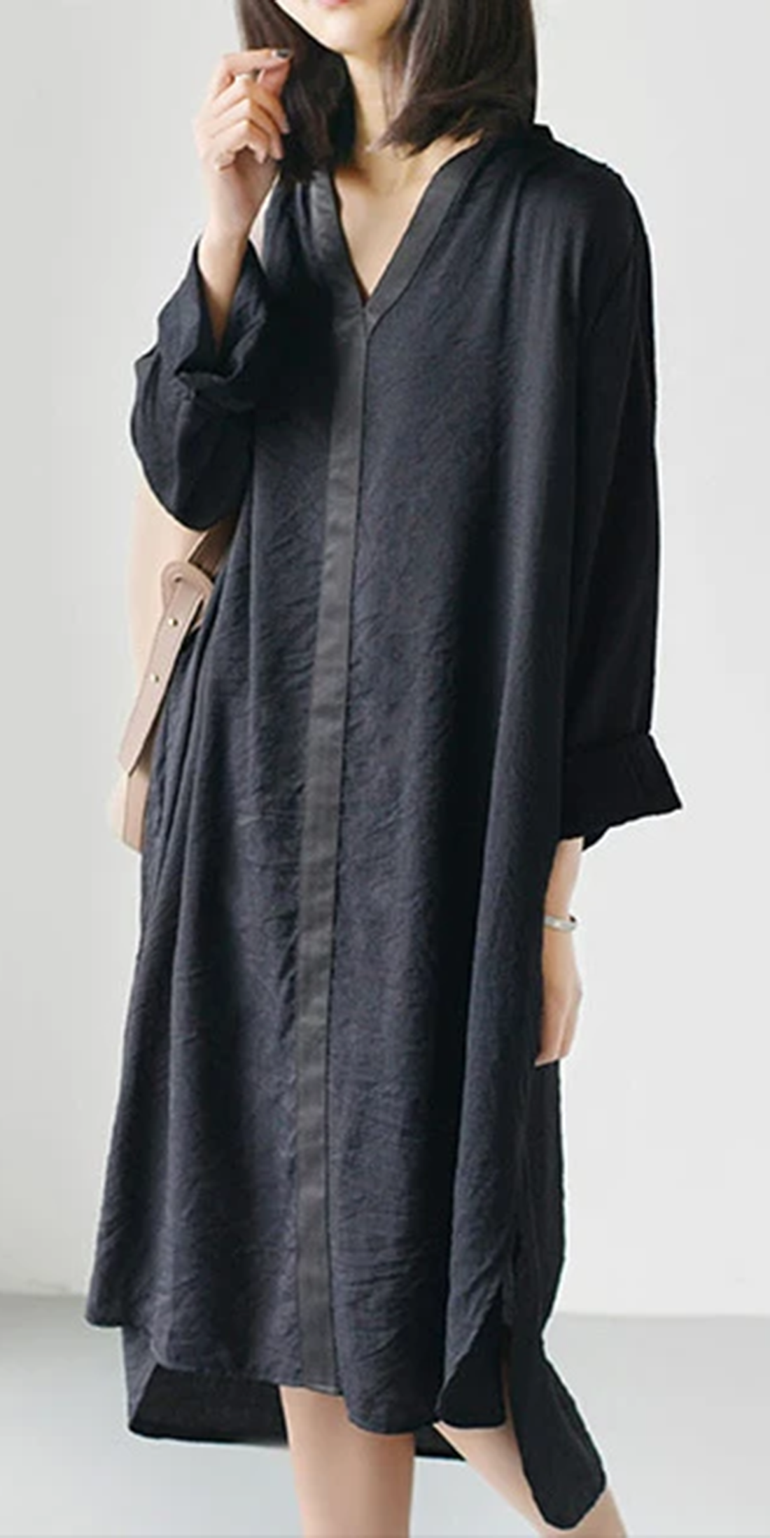 Black Causal Flowy Summer Dress Long Sleeve Shift Dresses Oversize Clothing Flowy Summer Dresses Long Sleeve Summer Dress Long Sleeve Dress [ 2196 x 1100 Pixel ]