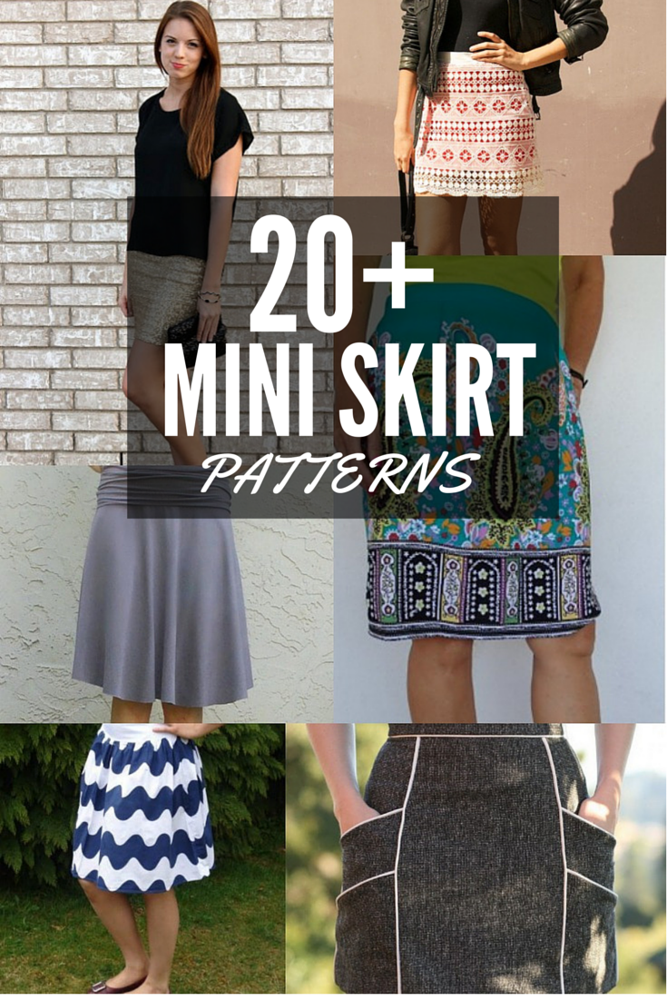 7b5f83508e7e8 This list of 20+ Free Mini Skirt Patterns from The Sewing Loft include  skirts that are so easy- you can make them today and wear them tonight!