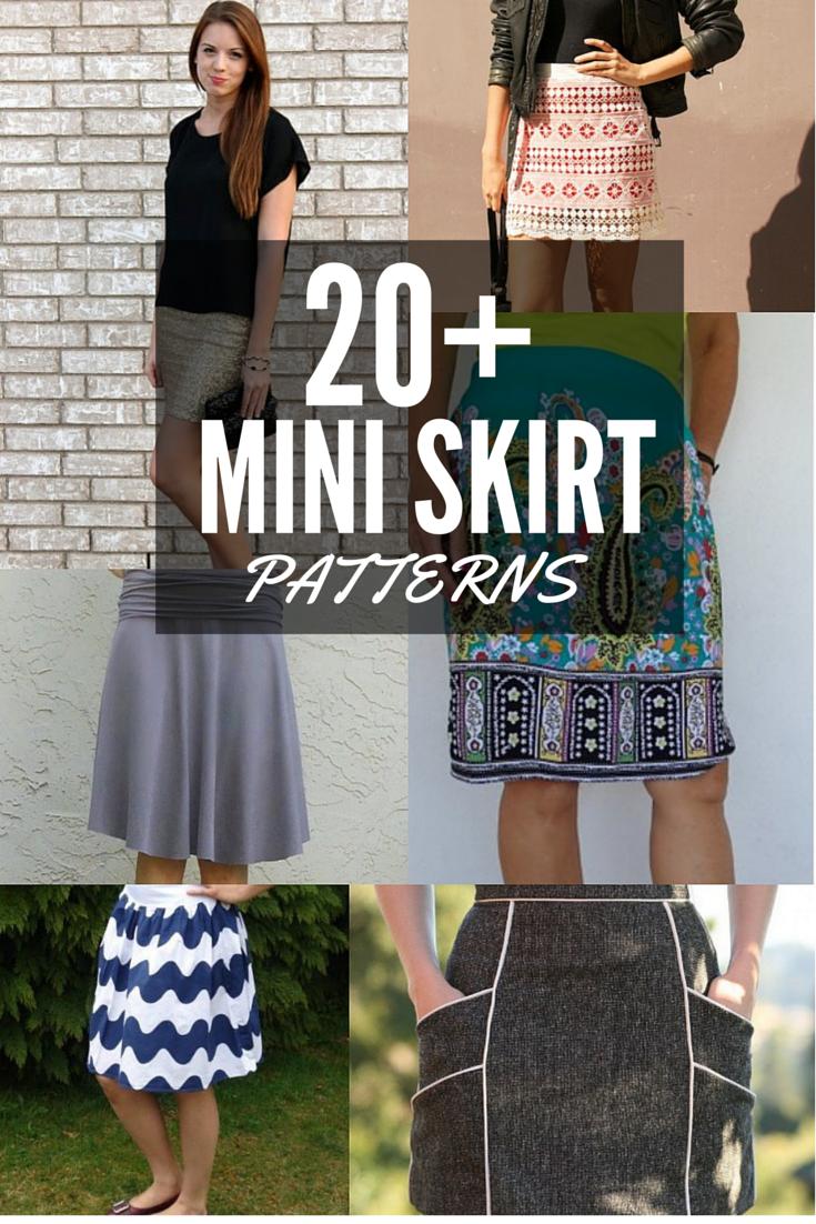 20+ Free Mini Skirt Patterns | Nähen, Kleidung nähen und Rock