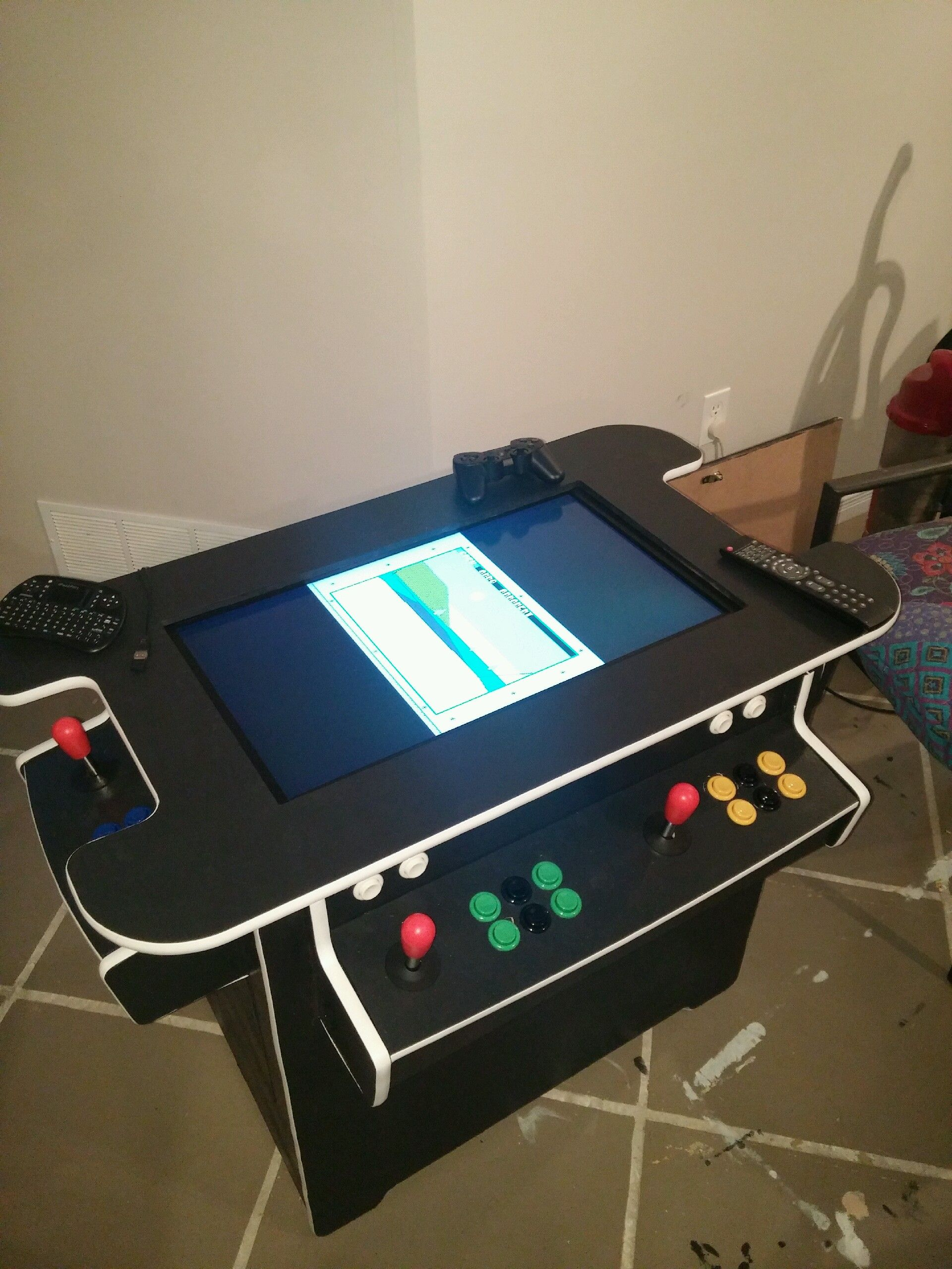 Blog – Here are pictures from a cocltail arcade machine 2 player