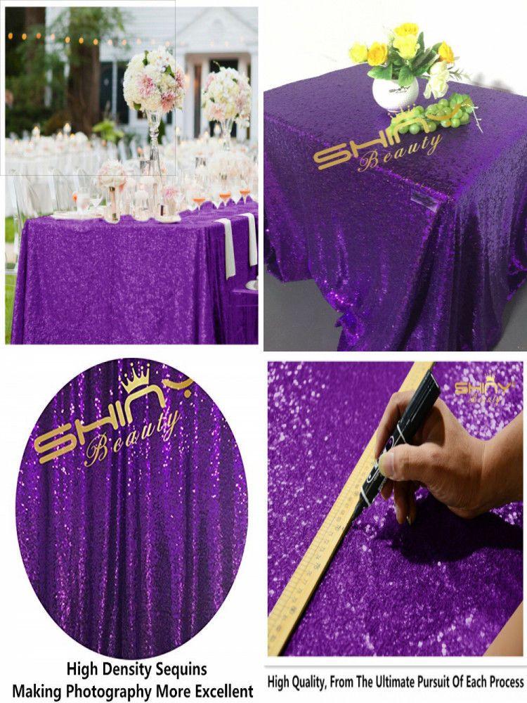 Royal Purple 60x102 Rectangle Wedding Table Linen Cloth Fabric