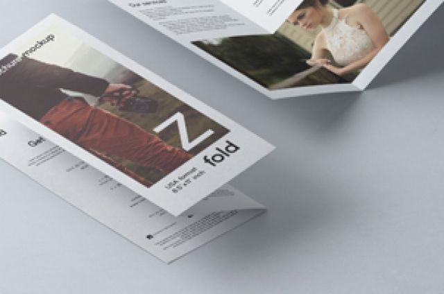 This is a Z Fold psd brochure mockup template to let you display     This is a Z Fold psd brochure mockup template to let you display your print  designs