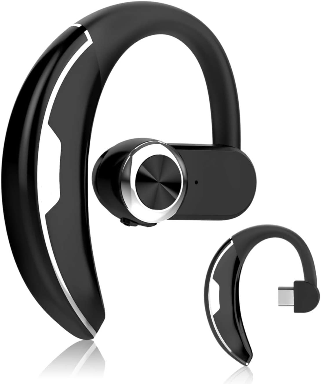 Dual Mic Noise Canceling 16H Talktime AptX-HD Bluetooth Earpiece Compatible with iPhone Android GoNovate C20 Bluetooth Headset 5.0 for Driving//Business//Office