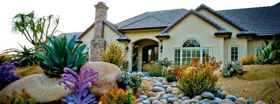 Image result for front yard slope zero xeriscape