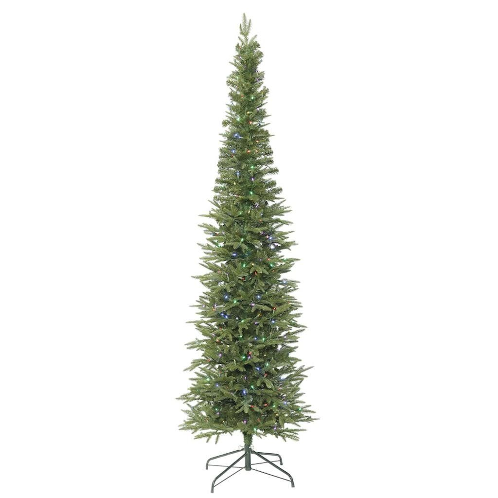 Vickerman 415016 102 Bixley Pencil Fir Tree With 550 Multi Color Led Lights Christmas Tree K16738 Multi Color Led Artificial Christmas Tree Colored Led Lights