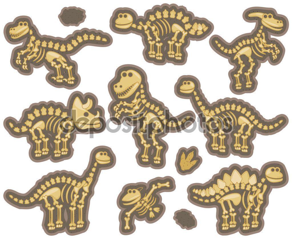 Resultado de imagen para fosiles de dinosaurios dibujos | jardin ...