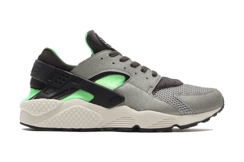 Nike Air Huarache Black And Green