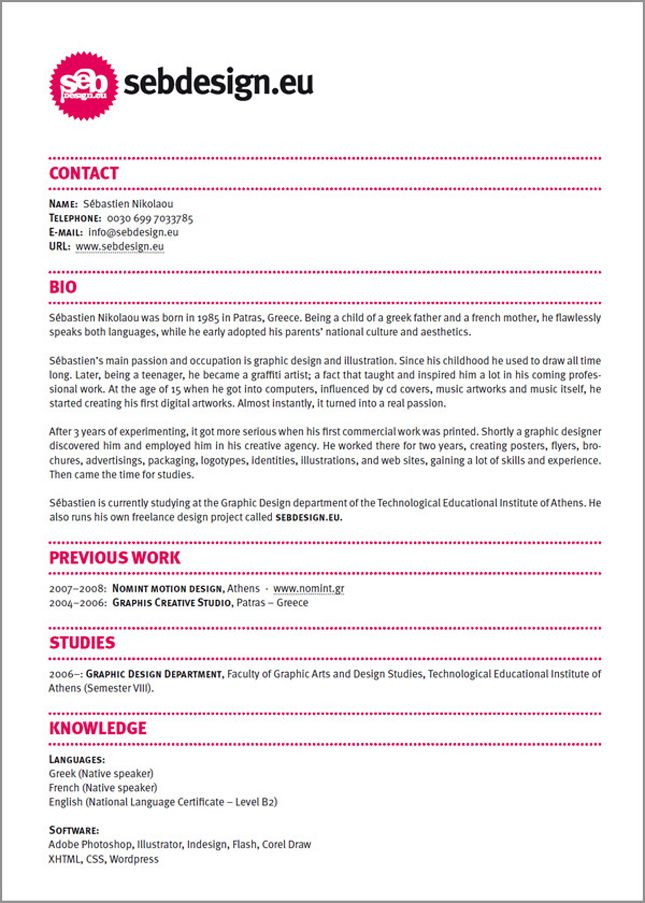 Creative Rsum Cv Design Graphics Job Profession