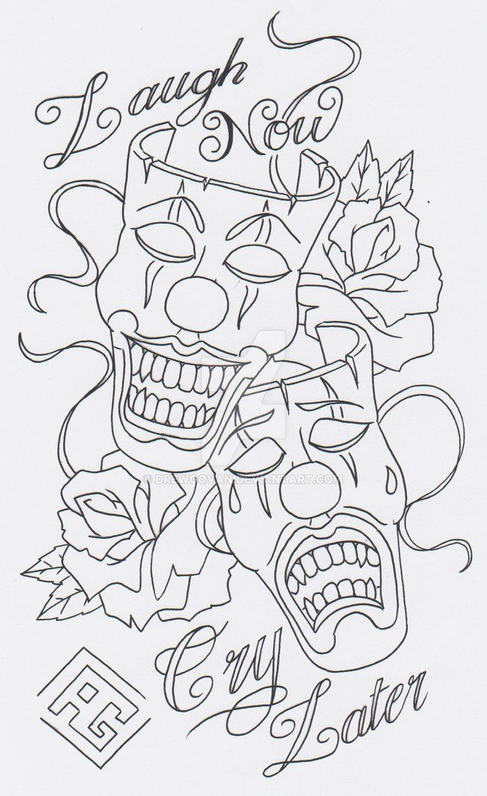 Laugh Now Cry Later Tattoo Laugh Now Cry Later Latest Tattoos Coloring Pages