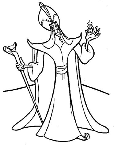 Jafar Coloring Page Disney Coloring Pages