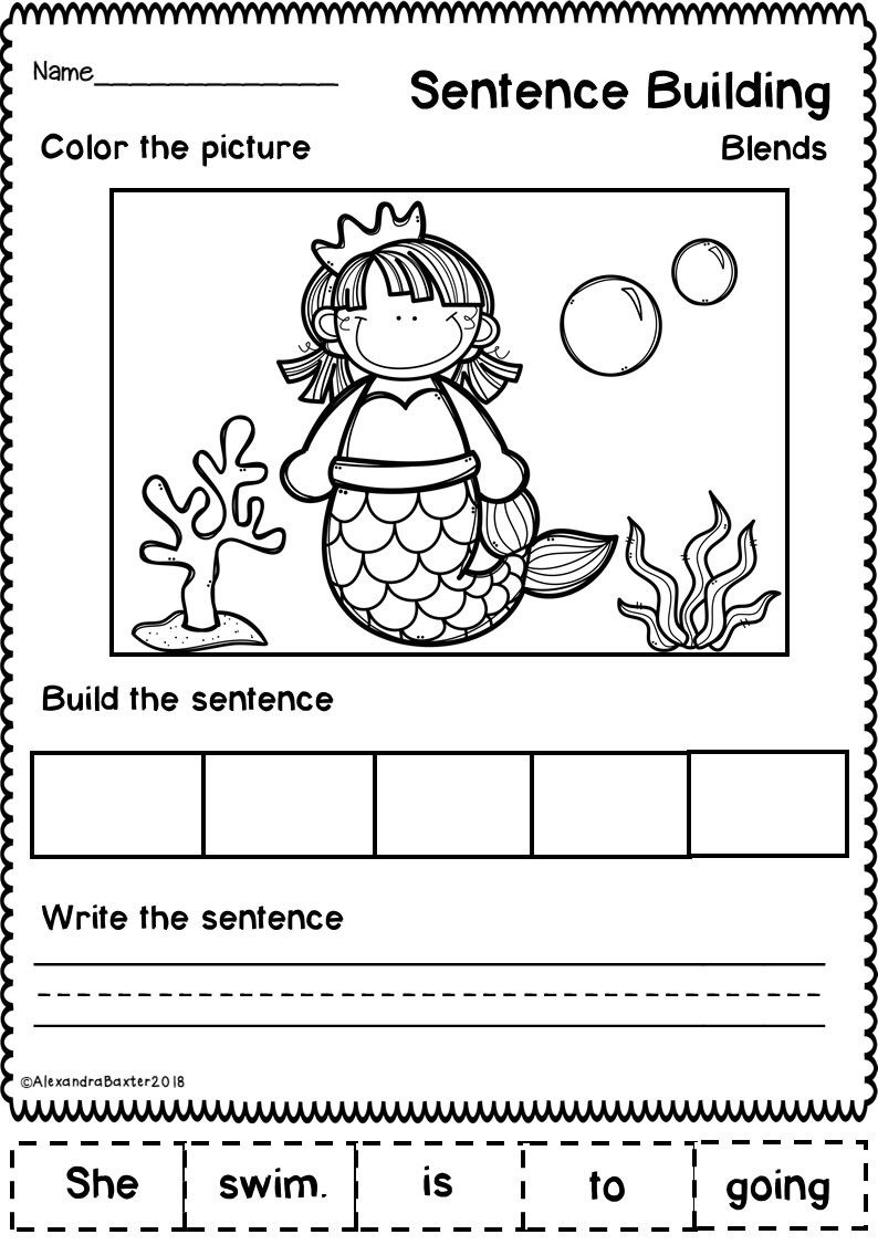 sentence building worksheets set 1 kindergarten ideas sentence building kindergarten. Black Bedroom Furniture Sets. Home Design Ideas