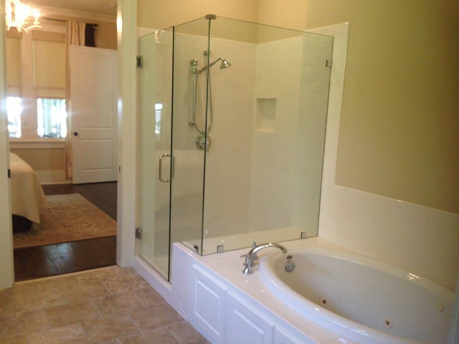 Renovated kitchen Renovated jetted garden tub and new seamless ...