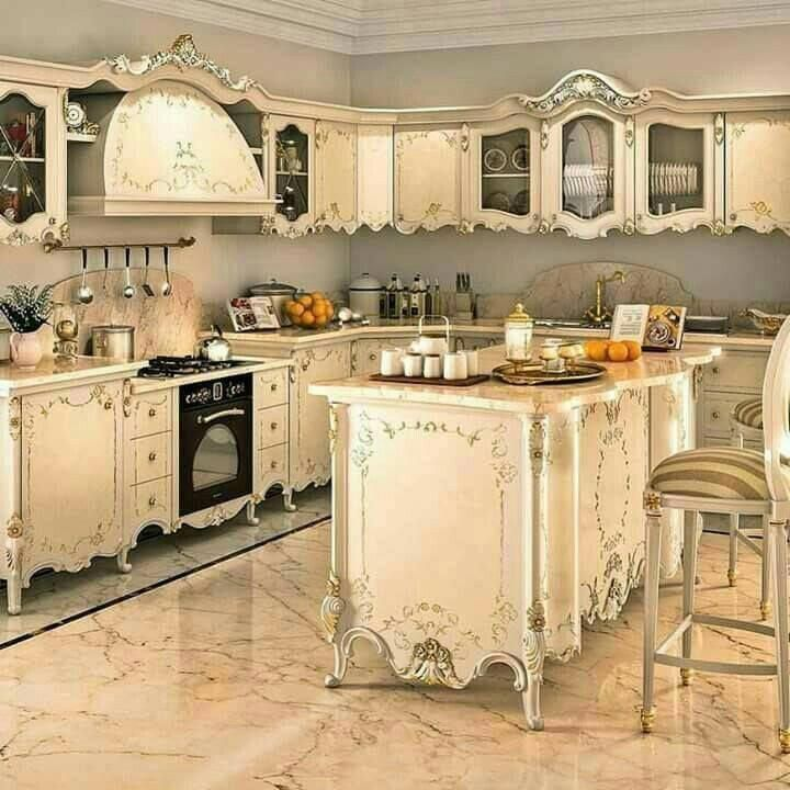 Shabby Chic Inspired Kitchen #Shabbychicdecor (With Images