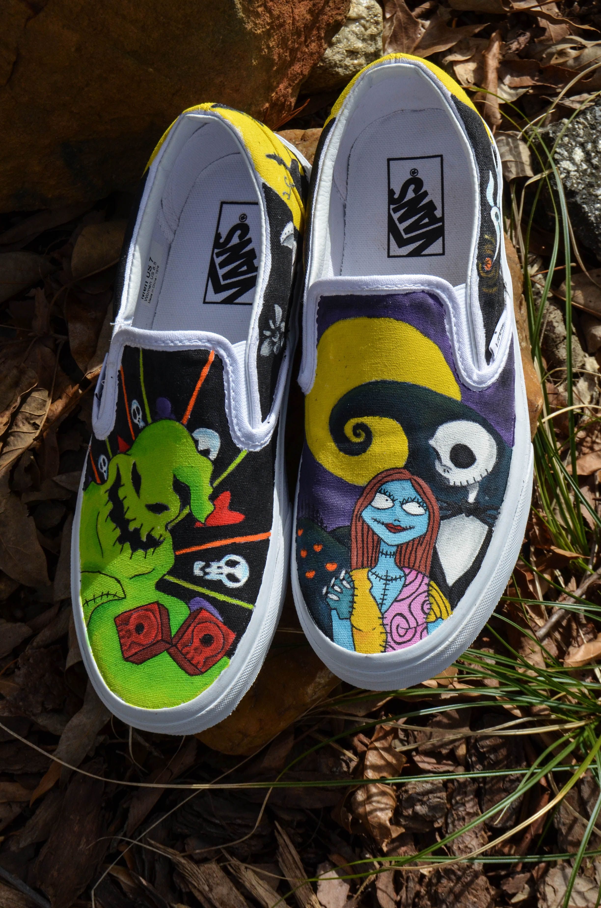 Custom Nightmare Before Christmas shoes from The Wandering