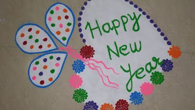 Happy New Year Rangoli 7